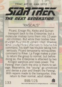 Star Trek The Next Generation Portfolio Prints Series One Trading Card Gold 133 Back