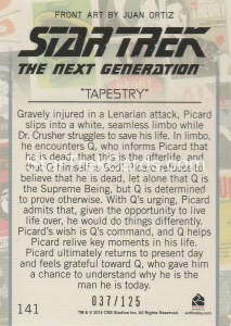 Star Trek The Next Generation Portfolio Prints Series One Trading Card Gold 141 Back