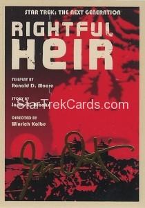 Star Trek The Next Generation Portfolio Prints Series One Trading Card Gold 149