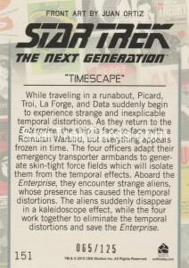 Star Trek The Next Generation Portfolio Prints Series One Trading Card Gold 151 Back