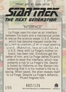 Star Trek The Next Generation Portfolio Prints Series One Trading Card Gold 155 Back