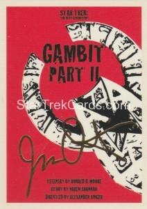 Star Trek The Next Generation Portfolio Prints Series One Trading Card Gold 157