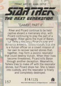 Star Trek The Next Generation Portfolio Prints Series One Trading Card Gold 157 Back