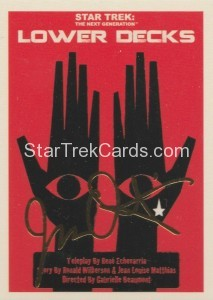 Star Trek The Next Generation Portfolio Prints Series One Trading Card Gold 167