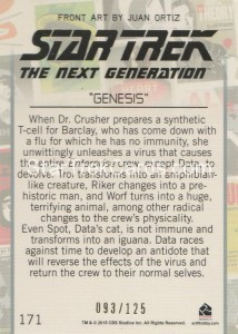 Star Trek The Next Generation Portfolio Prints Series One Trading Card Gold 171 Back