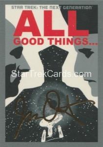 Star Trek The Next Generation Portfolio Prints Series One Trading Card Gold 177