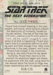 Star Trek The Next Generation Portfolio Prints Series One Trading Card Gold 177 Back