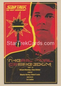 Star Trek The Next Generation Portfolio Prints Series One Trading Card Gold 21