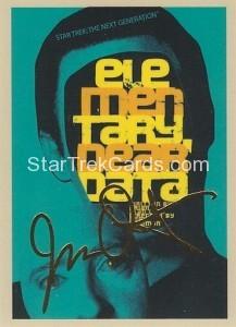 Star Trek The Next Generation Portfolio Prints Series One Trading Card Gold 29