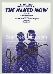 Star Trek The Next Generation Portfolio Prints Series One Trading Card Gold 3