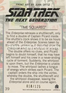 Star Trek The Next Generation Portfolio Prints Series One Trading Card Gold 39 Back