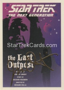 Star Trek The Next Generation Portfolio Prints Series One Trading Card Gold 5