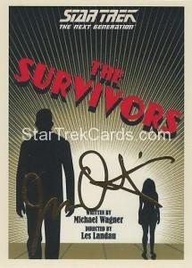 Star Trek The Next Generation Portfolio Prints Series One Trading Card Gold 51