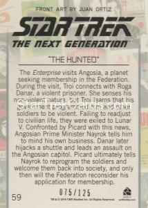 Star Trek The Next Generation Portfolio Prints Series One Trading Card Gold 59 Back