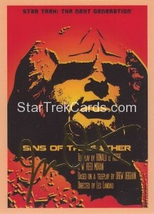 Star Trek The Next Generation Portfolio Prints Series One Trading Card Gold 65