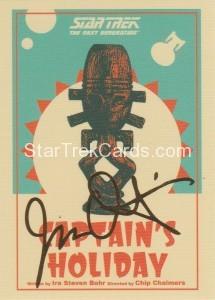 Star Trek The Next Generation Portfolio Prints Series One Trading Card Gold 67
