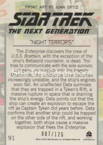 Star Trek The Next Generation Portfolio Prints Series One Trading Card Gold 91 Back