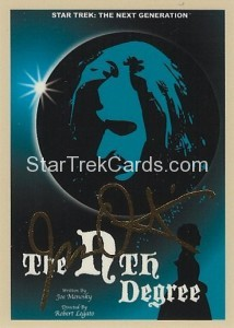 Star Trek The Next Generation Portfolio Prints Series One Trading Card Gold 93