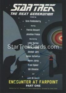Star Trek The Next Generation Portfolio Prints Series One Trading Card JOA1