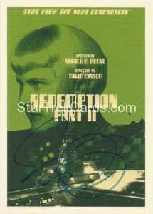 Star Trek The Next Generation Portfolio Prints Series One Trading Card JOA101