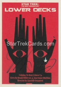 Star Trek The Next Generation Portfolio Prints Series One Trading Card JOA167