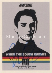 Star Trek The Next Generation Portfolio Prints Series One Trading Card JOA17