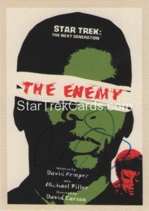 Star Trek The Next Generation Portfolio Prints Series One Trading Card JOA55