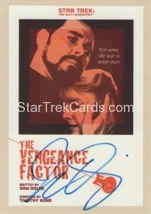 Star Trek The Next Generation Portfolio Prints Series One Trading Card JOA57