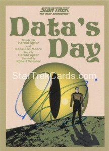Star Trek The Next Generation Portfolio Prints Series One Trading Card JOA85