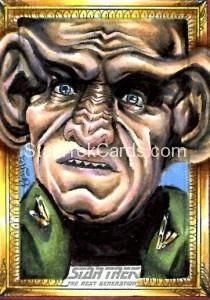 Star Trek The Next Generation Portfolio Prints Series One Trading Card Sketch Achilleas Kokkinakis Alternate