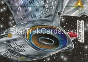 Star Trek The Next Generation Portfolio Prints Series One Trading Card Sketch Adam Bekah Cleveland