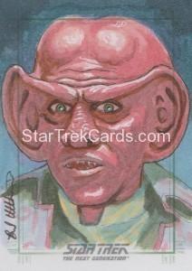 Star Trek The Next Generation Portfolio Prints Series One Trading Card Sketch Brad Utterstrom