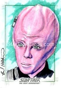 Star Trek The Next Generation Portfolio Prints Series One Trading Card Sketch Brad Utterstrom Alternate