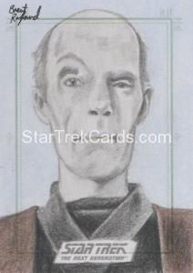 Star Trek The Next Generation Portfolio Prints Series One Trading Card Sketch Brent Ragland Alternate