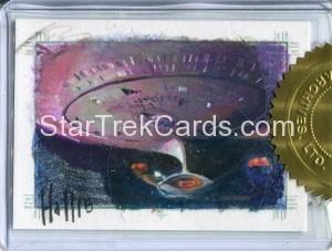 Star Trek The Next Generation Portfolio Prints Series One Trading Card Sketch Charles Hall Alternate