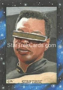 Star Trek The Next Generation Portfolio Prints Series One Trading Card Sketch Chris Meeks