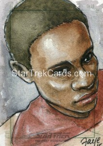 Star Trek The Next Generation Portfolio Prints Series One Trading Card Sketch Connie Faye