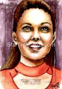 Star Trek The Next Generation Portfolio Prints Series One Trading Card Sketch Connie Faye Alternate
