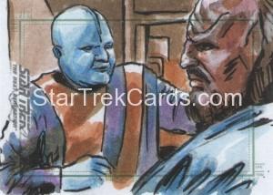 Star Trek The Next Generation Portfolio Prints Series One Trading Card Sketch Dan Gorman