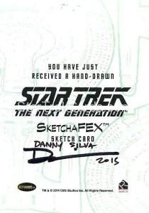 Star Trek The Next Generation Portfolio Prints Series One Trading Card Sketch Danny Silva Back