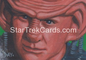 Star Trek The Next Generation Portfolio Prints Series One Trading Card Sketch David Day