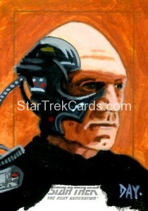 Star Trek The Next Generation Portfolio Prints Series One Trading Card Sketch David Day Alternate