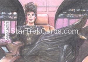 Star Trek The Next Generation Portfolio Prints Series One Trading Card Sketch Debbie Jackson