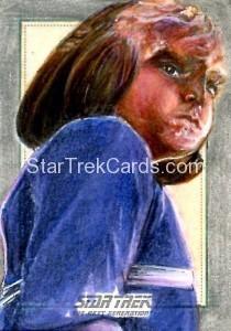 Star Trek The Next Generation Portfolio Prints Series One Trading Card Sketch Debbie Jackson Alternate