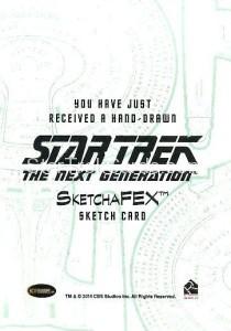 Star Trek The Next Generation Portfolio Prints Series One Trading Card Sketch Emily Tester Back