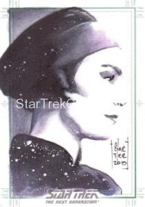 Star Trek The Next Generation Portfolio Prints Series One Trading Card Sketch Francois Chartier
