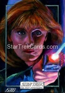 Star Trek The Next Generation Portfolio Prints Series One Trading Card Sketch Gavin Hunt