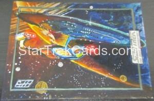 Star Trek The Next Generation Portfolio Prints Series One Trading Card Sketch Gavin Hunt Alternate