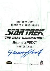 Star Trek The Next Generation Portfolio Prints Series One Trading Card Sketch Gavin Hunt Back