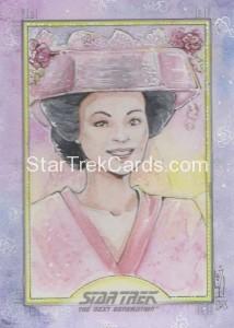 Star Trek The Next Generation Portfolio Prints Series One Trading Card Sketch Helga Wojik